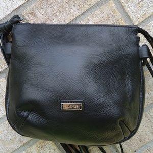 "Joe""s Jeans genuine black leather crossbody bag ."